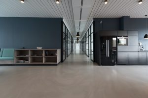 a redesigned office space