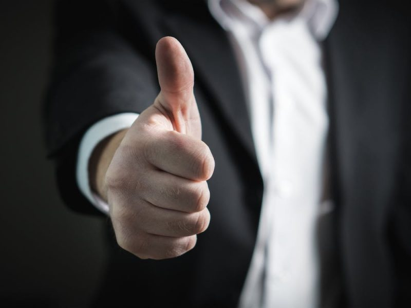 gesture representing successful pre-qualification