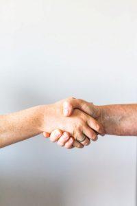 handshake between buyer and seller